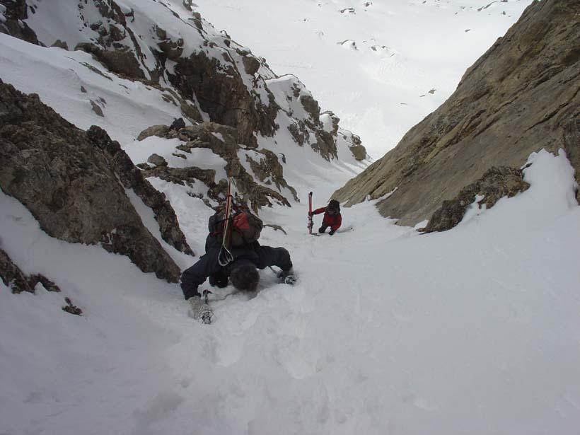 Grand Galibier (le) cima ovest da le Pont de l'Alpe, traversata per il Col Termier 2010-04-17
