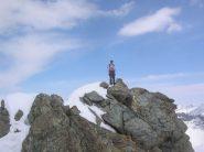 Enrico sulla cima del Bec Molère.