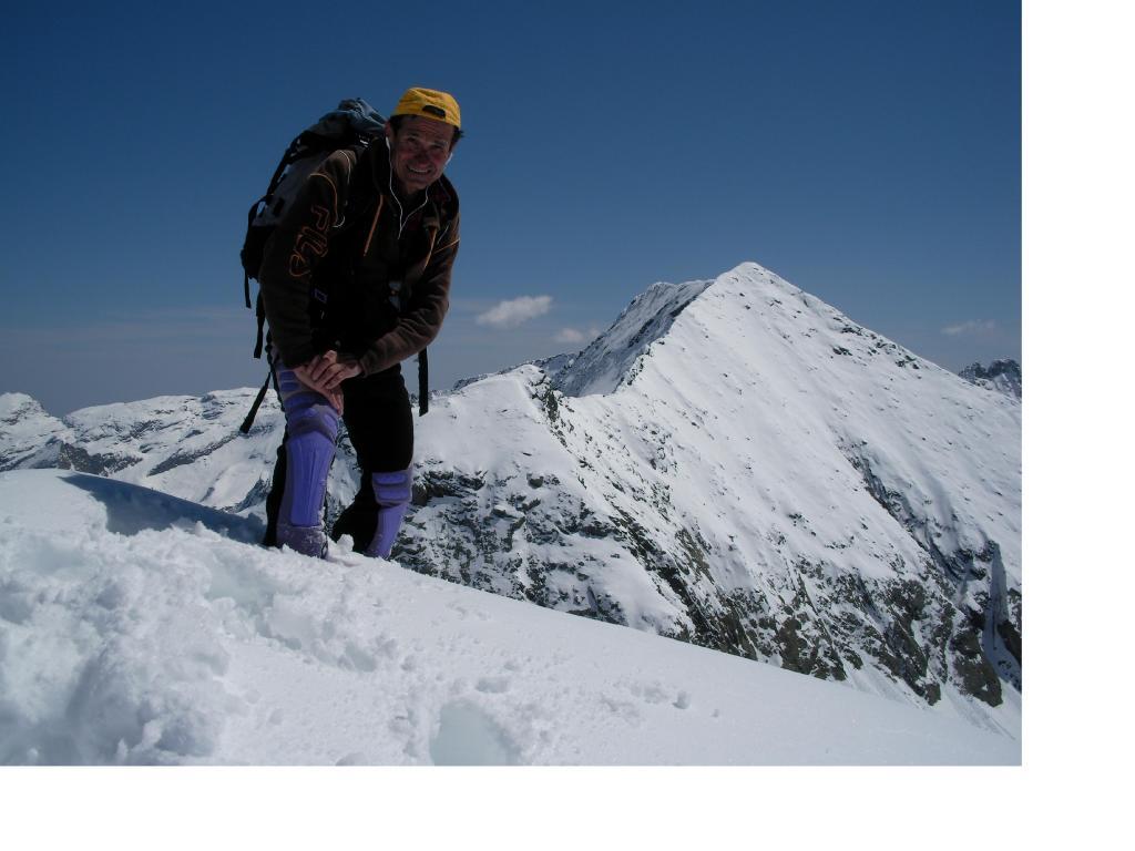 Autoscatto in cima alla Loson sullo sfondo della P.Lucellina