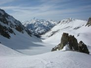 panoramica in salita con Pic de Rochebrune sullo sfondo