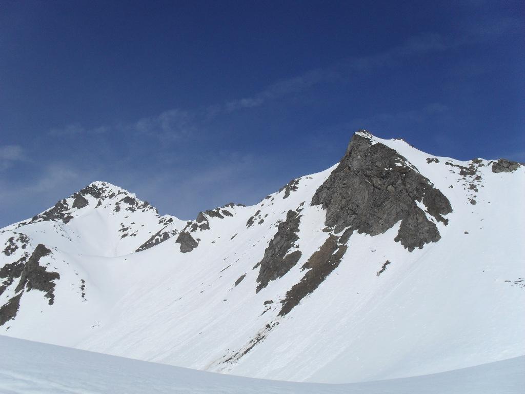 il monte Rosso e le punte Vertosan (a destra)