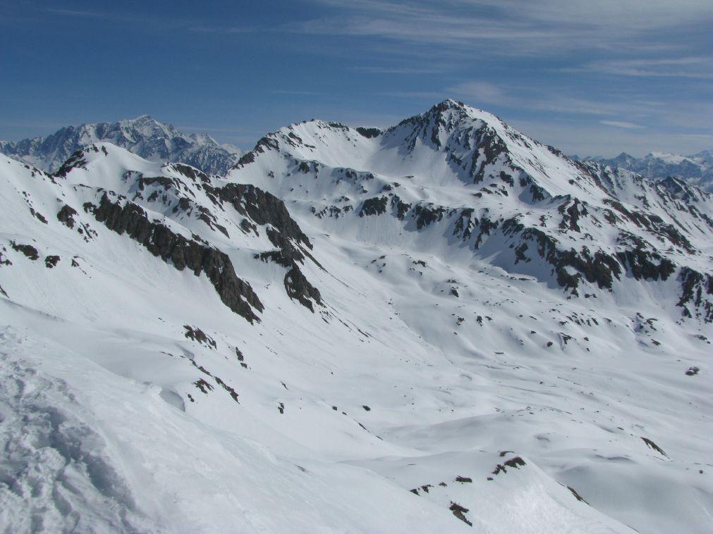Panorama su Gran Combin e Mont Fallère