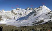 Itinerari sulle montagne della conca di Cheneil, visti dalla Fontanafredda
