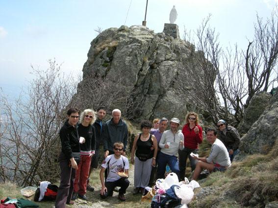 Il gruppo a Rocca Sella