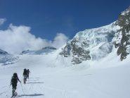 Salendo sul Glacier de Valsorey  oltre il col de la Gouille