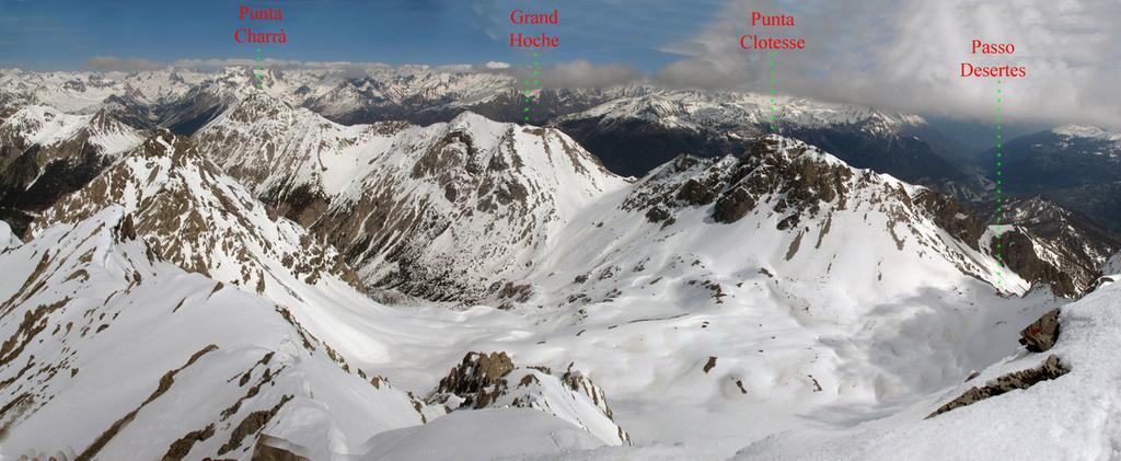 Panorama dalla Punta Charrà alla Punta Clotesse