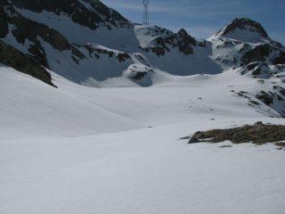 Il lago della Reale ben mimetizzato dalla neve