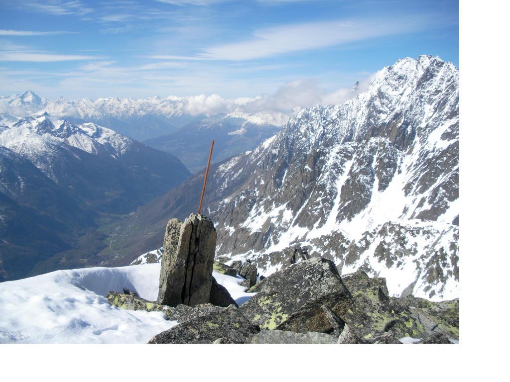 La Valpelline dalla vetta della Tour de la Tza'