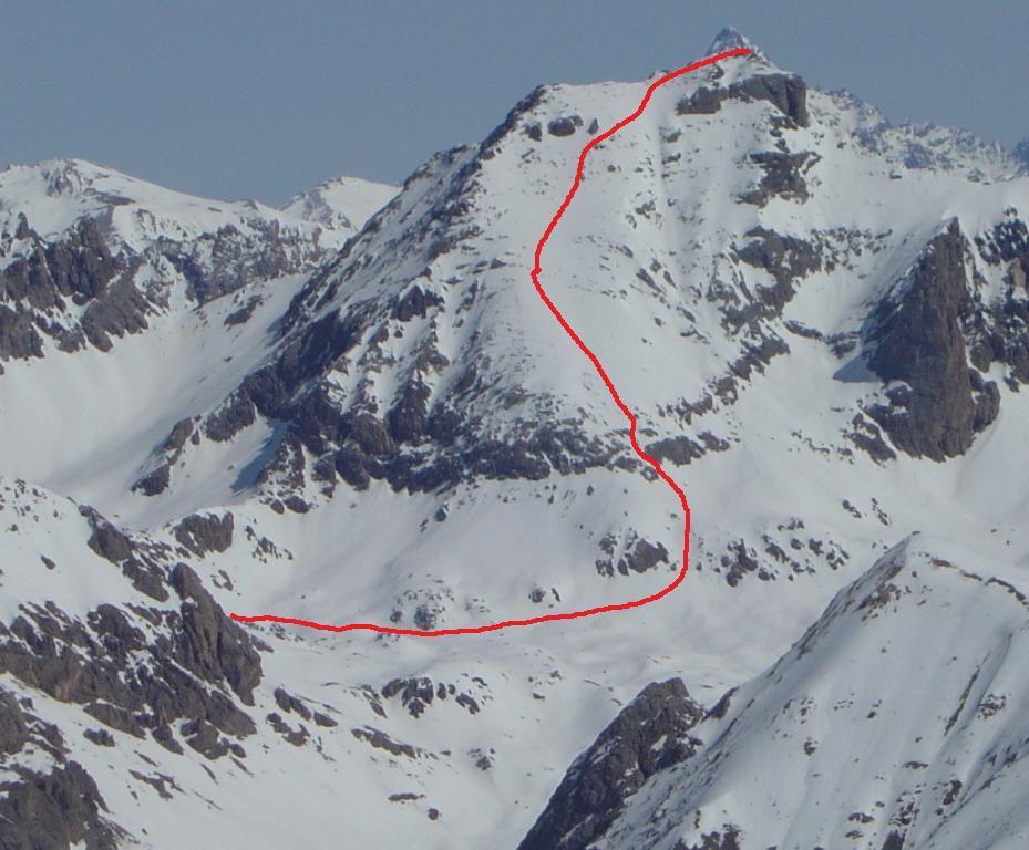 Itinerario di salita dal col du Vallonnet