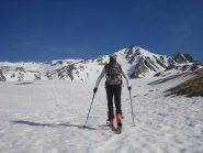 sullo sfondo la Pointe des Sarrasins 2963 m.