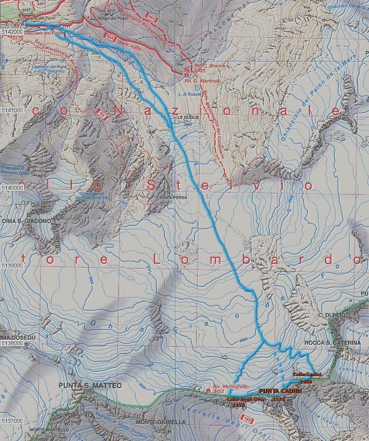 mappa Cadini