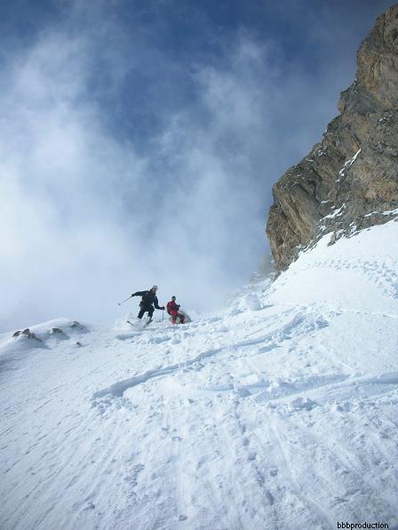 Inizio della rampa in bella neve