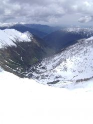 situazione neve nel basso vallone di Rodoretto