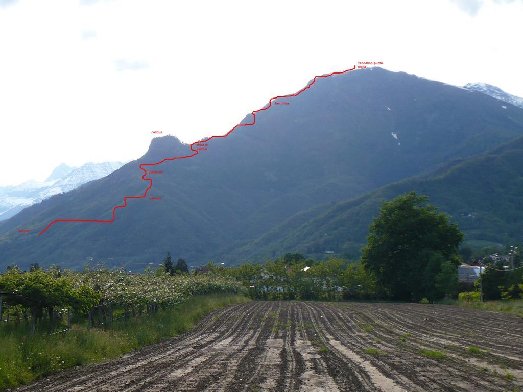 il percorso a granid linee visto da bassa valle