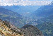 La valle d'Aosta dal colle