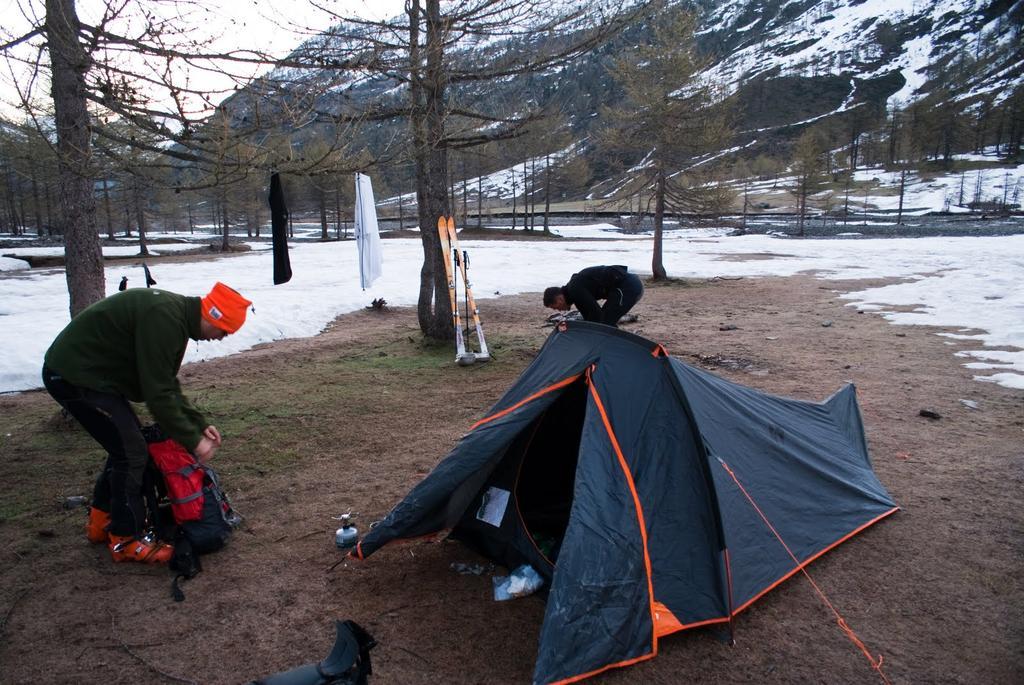 partenza dalla tenda