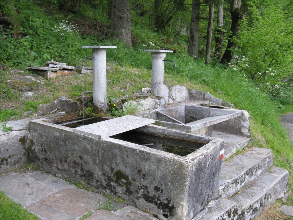 Doppia fontana alla partenza