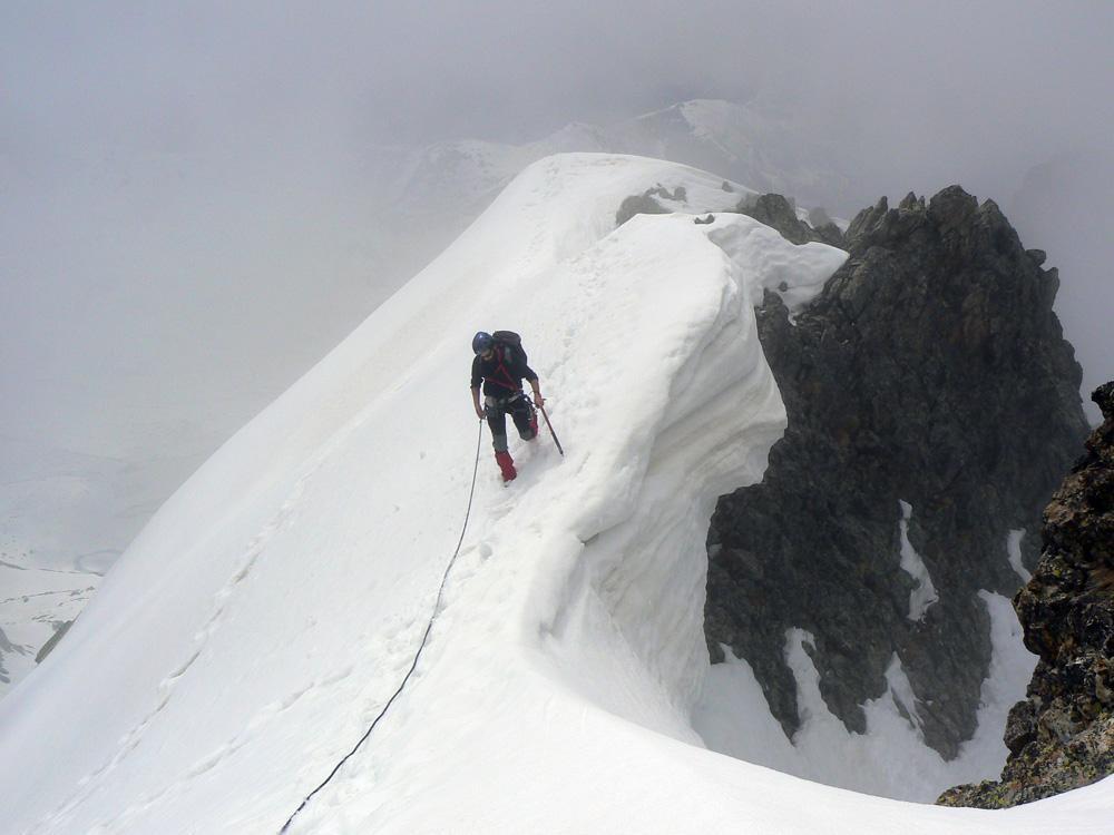 ...sulla cresta di neve