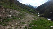 il tratto inziale del sentiero per il Vallone di Soustra (29-5-2010)
