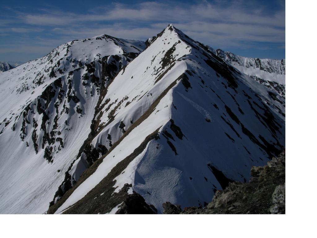 La quota 2837m dai pressi del Passo della Pennazza