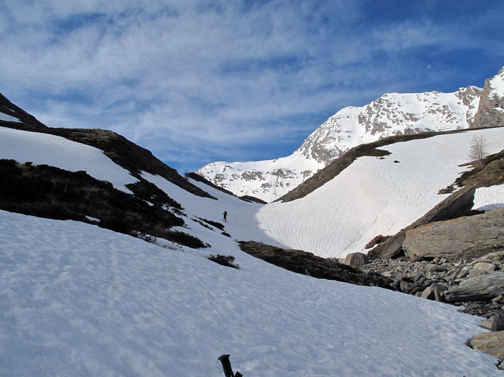 Alla quota 2200m la neve è continua