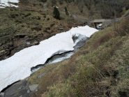 Neve insufficiente per arrivare al ponte Lapouge