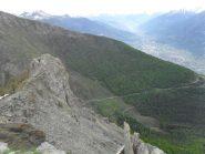 panorama dalla punta verso Aosta