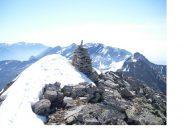 La costiera divisoria tra la bassa valle d'Aosta e la Valchiusella vista dal M,dei Corni