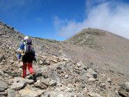 In vista del Timios Stavros, il punto più alto di Creta