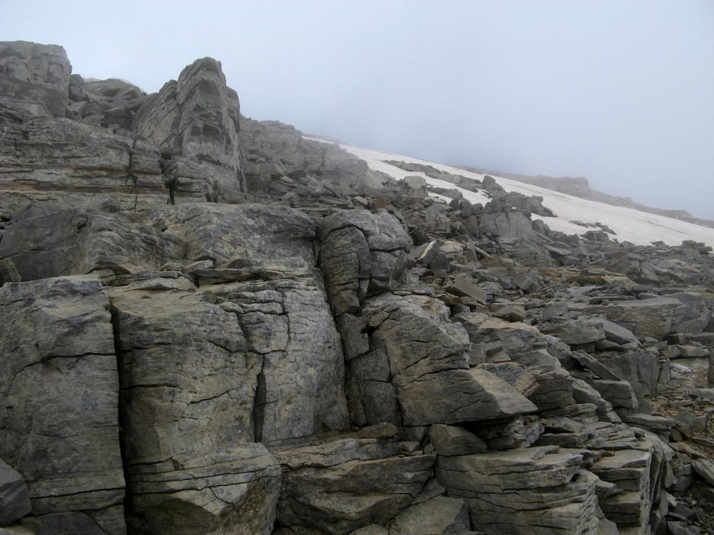I nevai sul versante Nord dell'Agathias