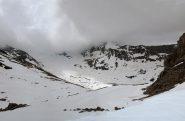 Vista, si fa per dire,  sul ghiacciaio Baounet