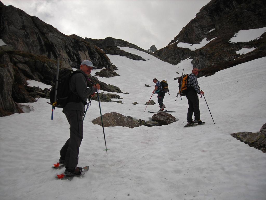Da 2250m la neve è continua