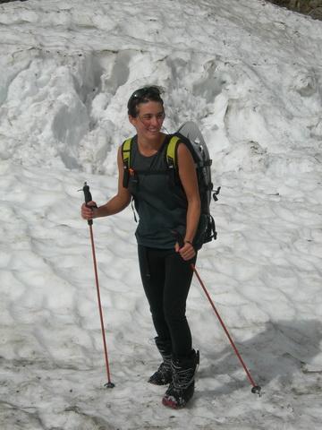 Anna Garelli sulla sella mediana