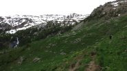 un lungo tratto pianeggiante verso la Cabane de l'Essamaure (19-6-2010)