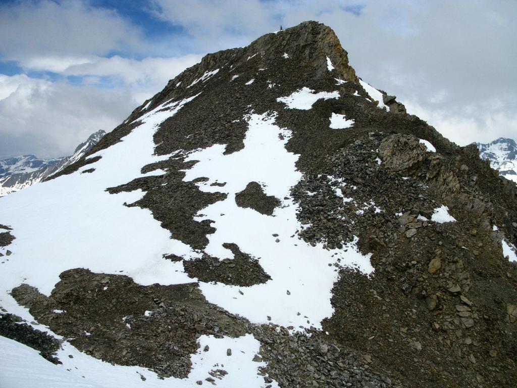 Basse de Mary (Pointe) da Maljasset per il Vallon de Mary, il versante e cresta SO 2009-02-09