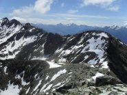 la cresta,il bivacco ed il Mont Mary