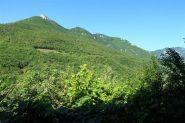 Il versante di salita con il Monte visto da Erli