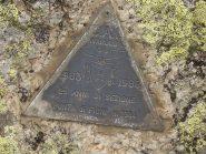 In punta con il triangolino del Cai di Rivarolo