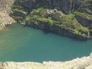Dalla cima il lago della Balma