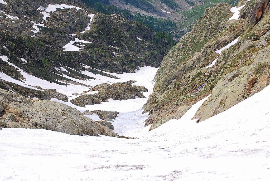 il canale visto dall' alto