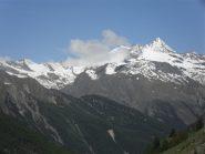 panorama sulla Grivola e dintorni dall'alpe Tsavanis