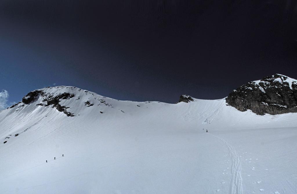 Sul ghiacciaio di Roches: a piedi e con gli sci