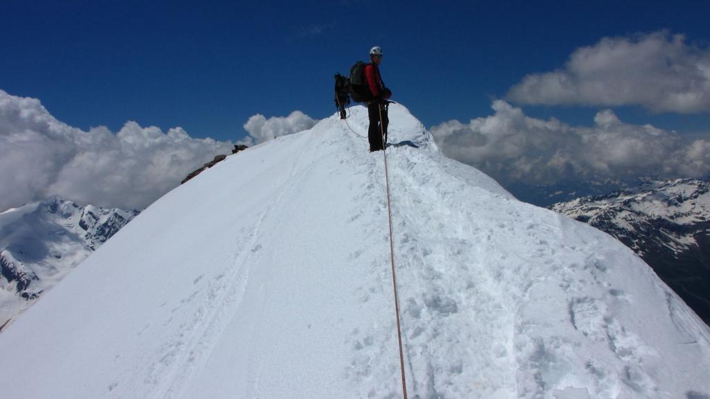 Cevedale (Monte) e Zufall Spitze Cresta NE dal Rifugio Casati 2010-06-25