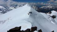 il Monte Cevedale e la cresta ancora da salire...visto dalla Zufall Spitze (25-6-2010)