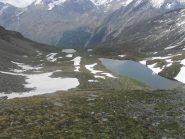 il lago Nero ed i laghi di Dijouan piu' in basso