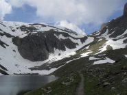 colle Entrelor e punta Percia' dal lago Nero