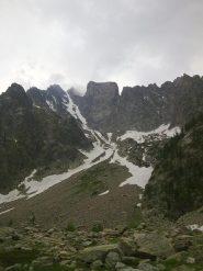 Il canalone di Lourousa visto dal Lagarot