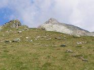 Il monte Colombo visto dalla cresta
