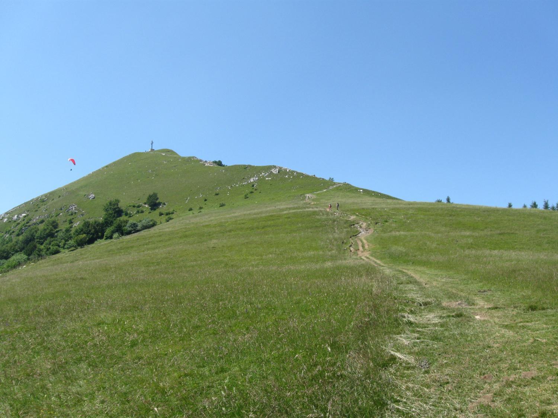 il tratto di salita verso la cima del Cornizzolo