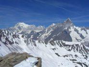Monte Bianco e Gran Jorasses dal colle
